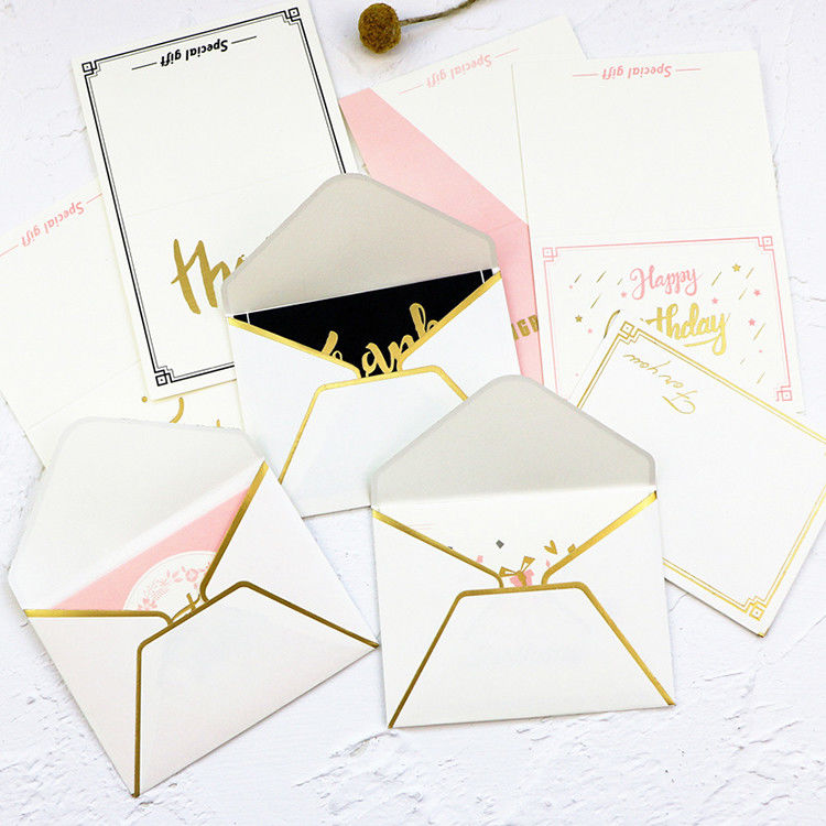 Foldable Gift Card Hard Paper Envelope 0.12mm-0.4mm Thickness
