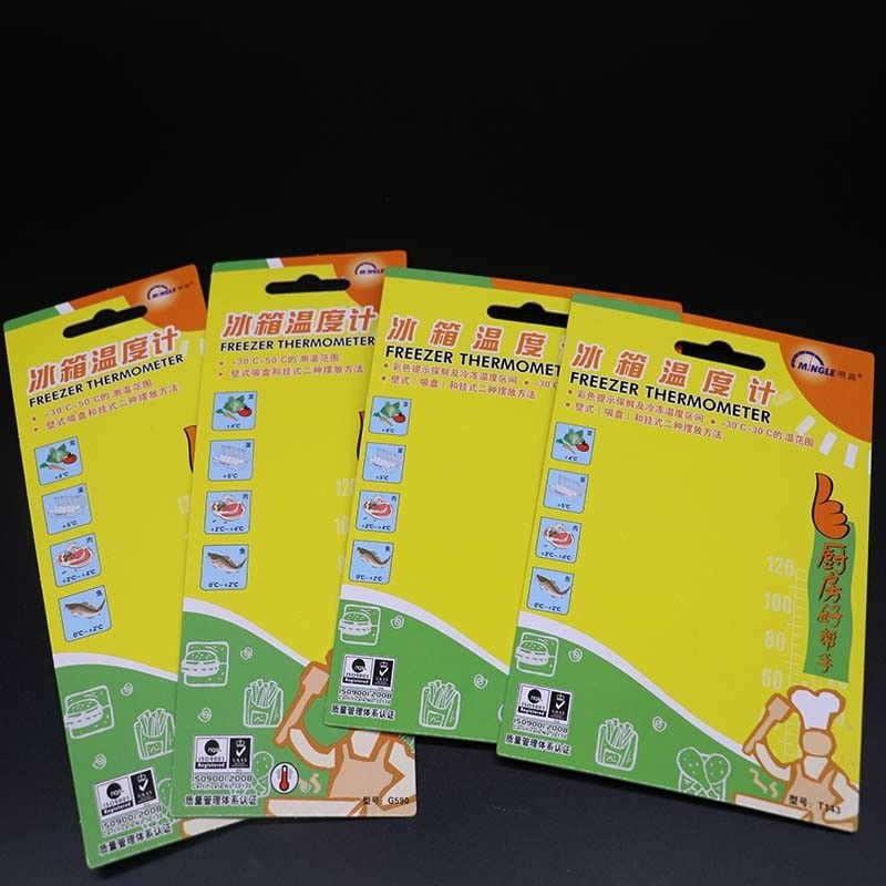 Colourful Thermometer Perforated Bookmark Cardstock With One Aircraft Hole