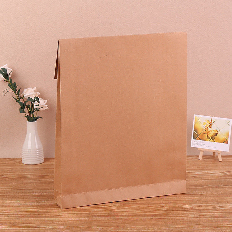 Biodegradable Blank Kraft Paper Bag With Gravure Printing Surface