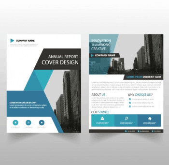 Ultra Flat Corporate Business Brochure , Recycled Corporate Bifold Brochure