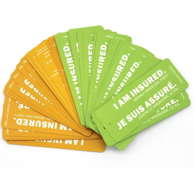 Recyclable Personalised Paper Luggage Tags , Retail Hang Tags For Clothing Line