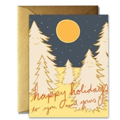 Craft Paper Greeting Cards , Recycled Personalized Holiday Greeting Cards
