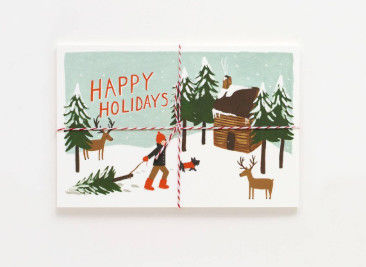 Offset Printing Cardstock Christmas Cards Stock With Gloss Lamination Surface
