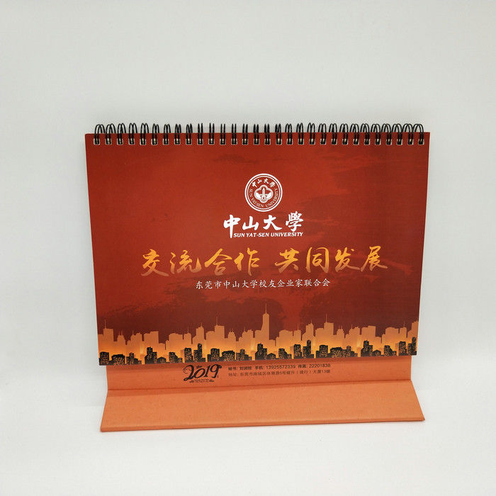 4 Color Printing Custom Desk Calendar For Business Gift Customized Size