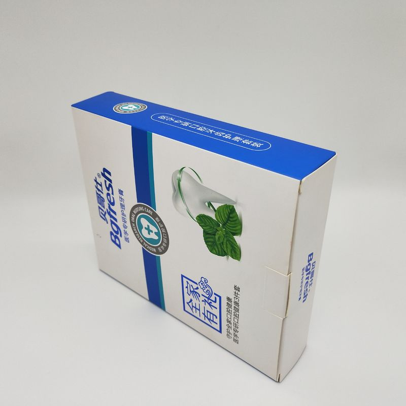 Toothpaste Color Paper Box With 350g Single Copper Paper Material 16*4.4*19.8CM